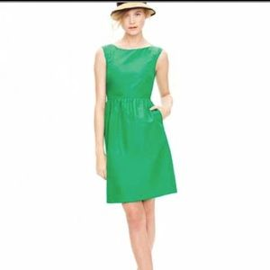 J Crew Lucille cotton silk green dress 2